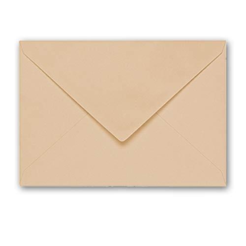 ARTOZ 25x Briefumschläge gerippt - Baileys - DIN B6 178 x 125 mm - Kuvert ohne Fenster – Umschläge mit Nassklebung – Spitze Verschlusslasche
