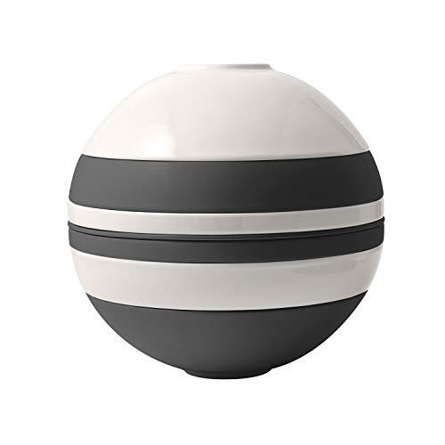Villeroy & Boch - Iconic La Boule black & white, Geschirr-Designobjekt mit aufregender Oberfläche, Premium Porzellan, spülmaschinenfest, schwarz, weiß