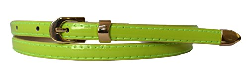 Sucre Belts Damen Gürtel mit Schnalle Gürtel Grün hellgrün