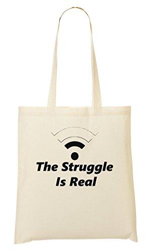 C+P Wifi Weak The Struggle Is Real Funny Tragetasche Einkaufstasche
