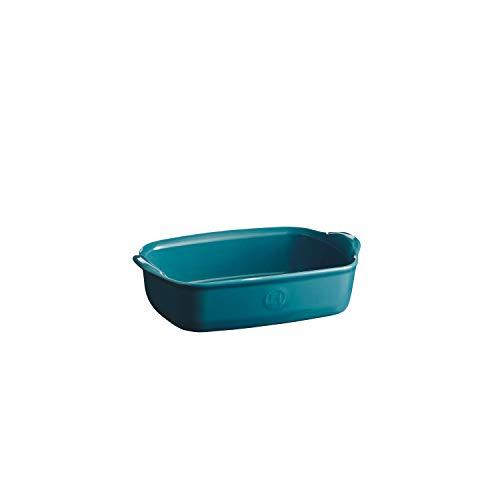 Emile Henry EH609649 - Bandeja de horno individual (cerámica, 22 x 14 cm), color azul