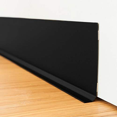 99 DECO - Plinthe PVC Adhésive Noire Lot de 10