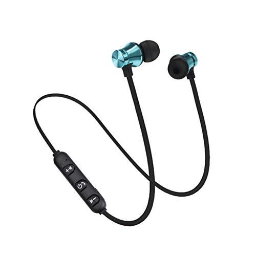 Zhou-YuXiang Magnético XT11 Uso cómodo Deporte Correr Auriculares inalámbricos Auriculares intrauditivos con Graves estéreo HiFi para teléfonos Inteligentes