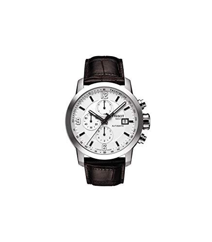 [ティソ] 腕時計 PRC 200 オートマティック クロノグラフ ホワイト文字盤 レザー T0554271601700 メンズ 正規輸入品 ブラウン