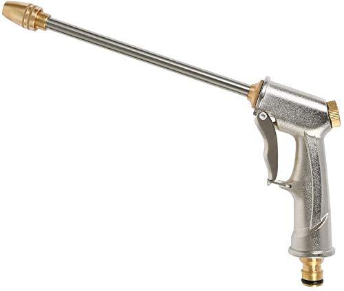Gartenschlauch-Sprühpistole, Hochdrucksprühpistole mit Messingdüse, strapazierfähiger Metall-Handsprüher für Autowäsche/Bewässerung von Rasen und Garten