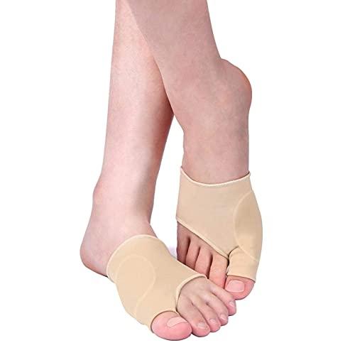 Corrector de juanetes, protector de manga de juanete, almohadilla para el dedo del pie metatarsiano, calcetines con cojín para el antepié, botines de juanete para mujeres y hombres (1 par, 2 piezas)