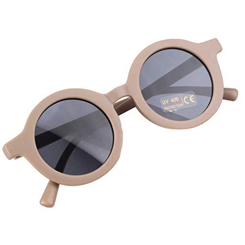 SM SunniMix Lovely Kids Gafas de Sol Polarizadas, Marco Flexible Gafas de Protección UV400 Favor de Fiesta para Niños, Niñas Y Niños - 8 Colores para Eleg - Marrón