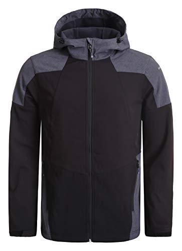 Icepeak BENDON Softshell Jacket Homme, Black, FR : M (Taille Fabricant : 50)
