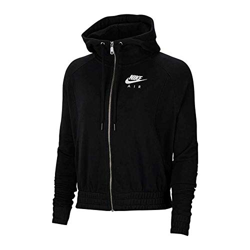 Nike W NSW Air Hoodie FZ BB FLC Women's Hoodie CU5442-010 Black/White Black/White S