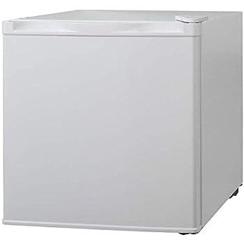 iimono117 小型冷蔵庫 [ 46L 49L ] 両開き 製氷室付き / 1ドア 右開き 左開き ミニ冷蔵庫 ひとり暮らし 新生活 コンパクト 1年保証付き (46Lホワイト)