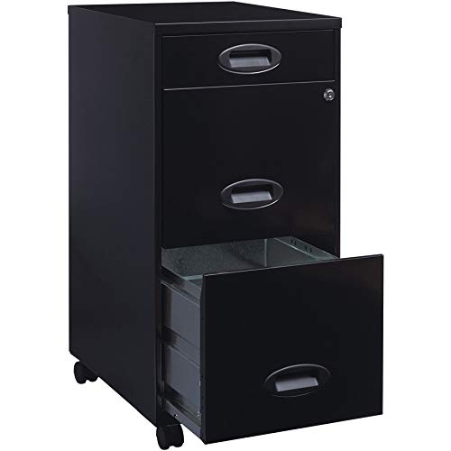 Lorell SOHO Mobile Cabinet, Black