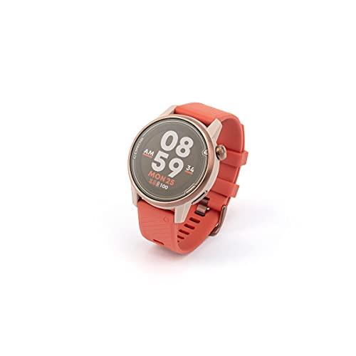 Coros APEX Premium - Reloj GPS de 42 mm con monitor de rata de vídeo de 25 h Full GPS Battery, Sapphire Glass, Barometer, Strava & TrainingPeaks (Gold Coral)