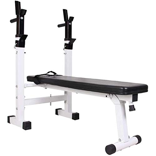 OESFL Home Gym Adjustable Benches Folding Weight Table Multifunctional Weightlifting Bed Press Foldable Squat Rack Fitness Equipment Benches for Muscle Training