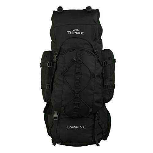 Tripole Colonel 80 litres Rucksack + Detachable Day Pack, Black