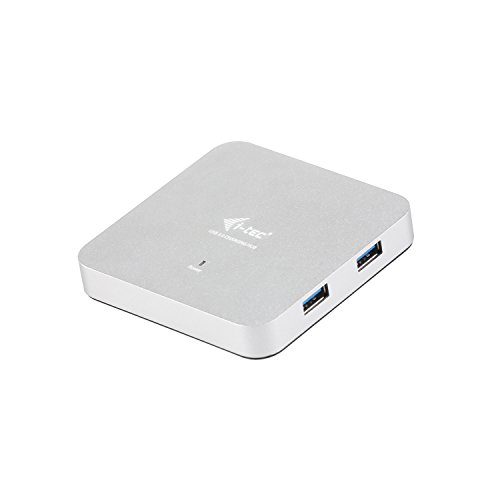 i-tec USB 3.0 Metal Charging HUB 4 Poort met externe netadapter 4x USB-poort, ideaal voor Notebook Ultrabook Tablet PC, Windows Mac Linux