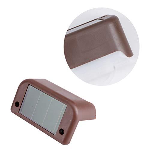 OSALADI Solar Power LED-Treppenlicht im Freien wasserdichte Eck-Wandleuchte für Innen (Kaffee)