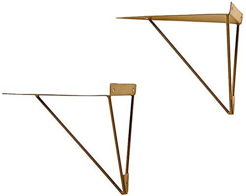 2 estante de pared marco de soporte de marco de pared triangular negro marco de soporte de hierro forjado nórdico diseño simple Soporte de estante de pared para estantería, marco de jardín, etc.,