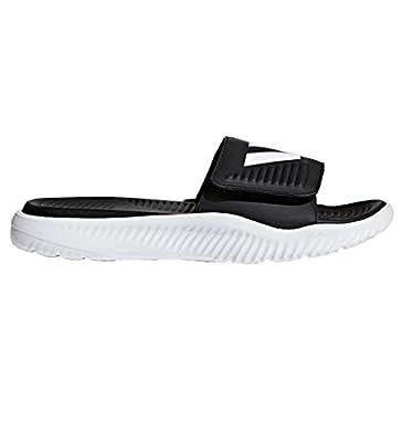 adidas Men's Alphabounce Slide Sandals, White/Core Black/White, (10 M US)