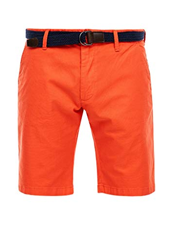s.Oliver Herren Slim Fit: Bermuda mit Gürtel orange 33