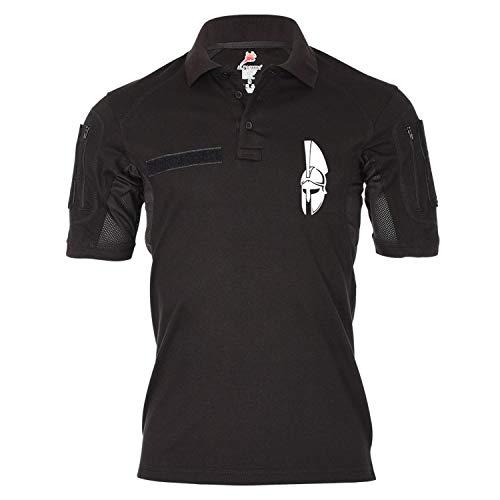 Copytec Tactical Poloshirt Alfa Sparta Komm und HOL Sie dir Helm 300 König #19196, Größe:M, Farbe:Schwarz
