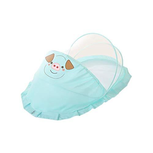 Jinclonder Muggennet voor kinderen, babybed, klamboe voor pasgeborenen die zich zelf uitrekken en plooien opvouwen.