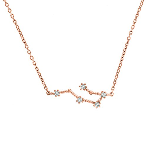 PAVOI 14K Rose Gold Plated Astrology Constellation...