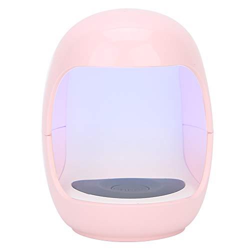 Weiyiroty Mini lámpara de uñas, USB de un Dedo portátil Nail Art Gel secador de Esmalte UV LED lámpara de curado para Pegamento UV/Pegamento de extensión/Gel de Esmalte de uñas LED(Rosado)