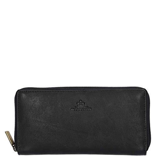 Price comparison product image The Skandinavian Brand RFID Women's Zip Wallet Black