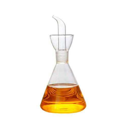 BESTonZON Essig Öl Karaffe Spender Ölspender Ölflasche ohne Tropfauslauf für Grillen/BBQ/Backen/Salat/Braten/Soja-Sauce 125ml (transparent)