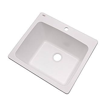 Dekor Sinks 42100NSC Wakefield Laundry Tub 25-Inch White