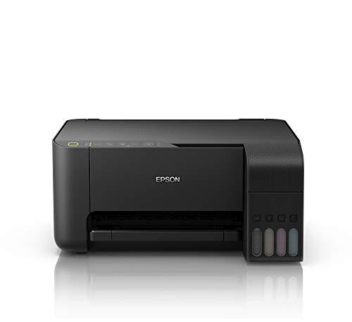 Epson EcoTank ET‑L3150, Multifunción Inkjet 3 en 1, Impresión, Escaneo, Copia, A4, A5, A6, B5, Capacidad del cajón de Papel 100 Hojas, Bandeja de Salida de Papel de 30 Hojas, Wi-Fi, Negro