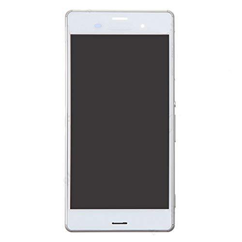 TANGJIANCHENG-PHONE ACCESSORIES Professional LCD Bildschirm kompatibel mit Sony Xperia Z3 / D6603 / D6643 / D6653 (4G Single SIM Version) Teile (Color : White)