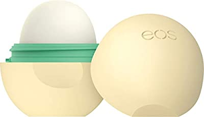 eos Natural & Organic Sphere Lip Balm - Vanilla Bean | Certified Organic & 100% Natural | Deeply Hydrates and Seals in Moisture | 0.25 oz