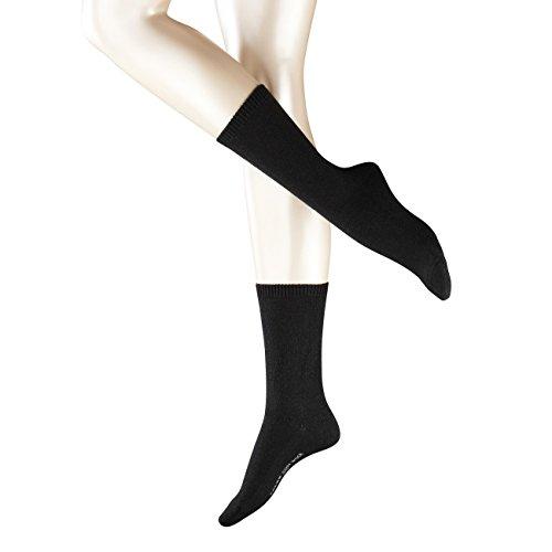 Falke Damen Socken Cosy Wool 2er Pack, Größe:35-38;Farbe:black
