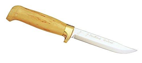 Marttiini Outdoormesser, rostfrei, Klinge 13 cm, Birkenholz, Fingerschutz, Lederscheide Jagd, Mehrfarbig, One Size