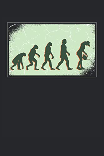 Gärtner Evolution: Notizbuch A5 gepunktet, Geschenk für die Naturliebhaber, Skitzzenbuch | Mattcover