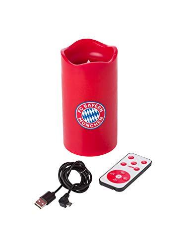 FC Bayern München LED-Kerze rot Höhe ca. 15 cm