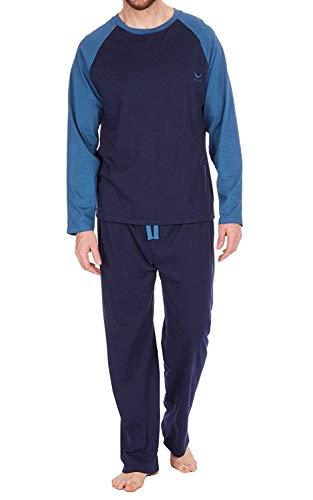 Hombre Set Pijama Top de Manga Larga y Pantalones Pijama de
