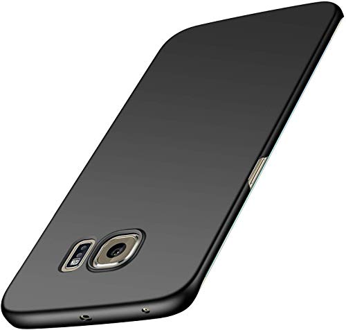 Case for Samsung Galaxy S6 Edge Case [Slim Protective] [Protect from Shock/Scratch/Drop/Marks] [Premium PC Plastic] Minimalist Hard Cover for Galaxy S6 Edge (Black)