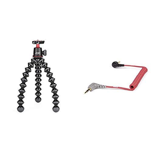 JOBY JB01507 BWW GorillaPod 3K Kit Flexibles und leichtes Stativ mit Kugelkopf fur DSLR CSC und spiegellose Kameras Rode Anschlusskabel auf Handy 04 m 35 mm Klinkenstecker rot