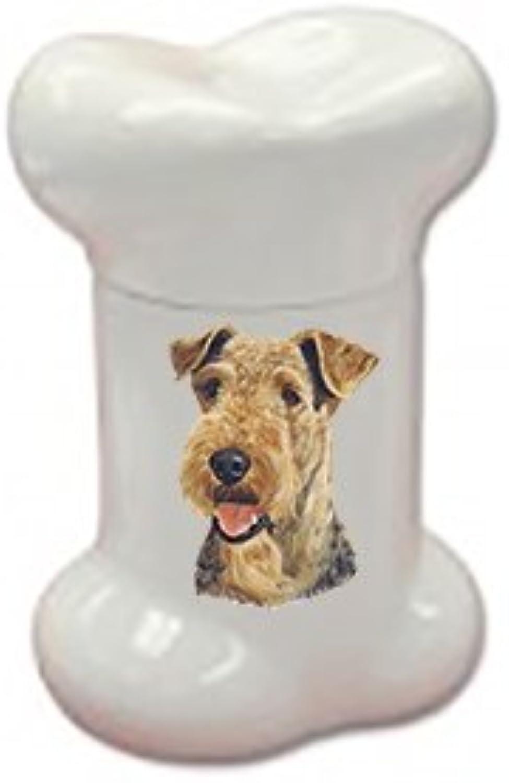 Best of Breed Airedale Doggie Bone Treat Jar