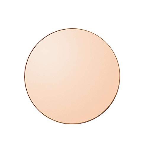AYTM - Spiegel - Circum- Amber/rosa - MDF/Spiegelglas - D: 70 cm - Höhe 2 cm