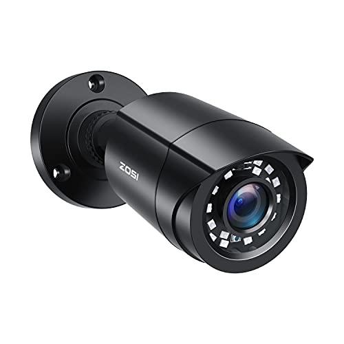 ZOSI 2.0MP FHD 1080p Security Camera Outdoor/Indoor (Hybrid 4-in-1 HD-CVI/TVI/AHD/960H Analog CVBS),24PCS LEDs,80ft Night Vision,Weatherproof Surveillance CCTV Bullet Camera