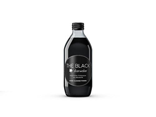 STARWATER - Schwarzes Trinkwasser - Natürliches Wasser mit Aktivkohle - 0,33l - The Black
