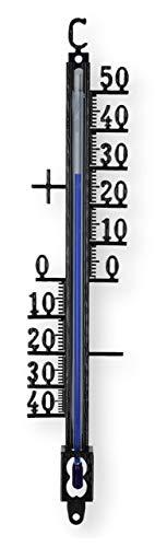 Lantelme Gartenthermometer 18 cm Metall analog Außen Balkon Garten Thermometer 7400