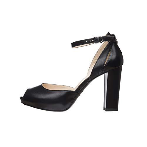 NeroGiardini E011010DE Zapatos De Salón Mujer De Piel - Negro 35 EU