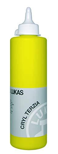 LUKAS CRYL TERZIA - Pintura acrílica de calidad de estudio (500 ml), color amarillo primario