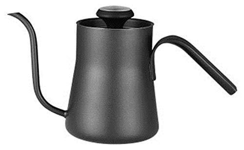 DFGER Jarras de café Hervidor de Cisne Negro con termómetro, Tetera de café de Acero Inoxidable de Primera Calidad, pequeña y Exquisita, Adecuada para Hacer café y té en casa.