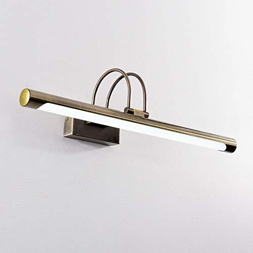 Luces Delanteras LED para Espejo de baño, lámpara de Espejo Vintage con eslabón Giratorio 240 & deg;Cabezal de lámpara, Aplique de Pared con luz de Maquillaje de Bronce para Dormitorio, Hotel, resta