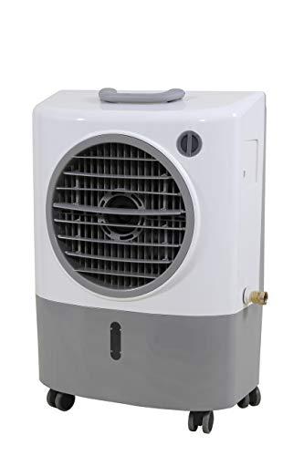 Hessaire MC18M Portable Evaporative Cooler – Gray, 1300 CFM, Cools 500 Square Feet